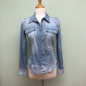 Guess Denim Long Sleeve Slim Shirt (PM320)